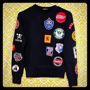 **HOST PIC!!** NWOT DSQUARED college patch sweater